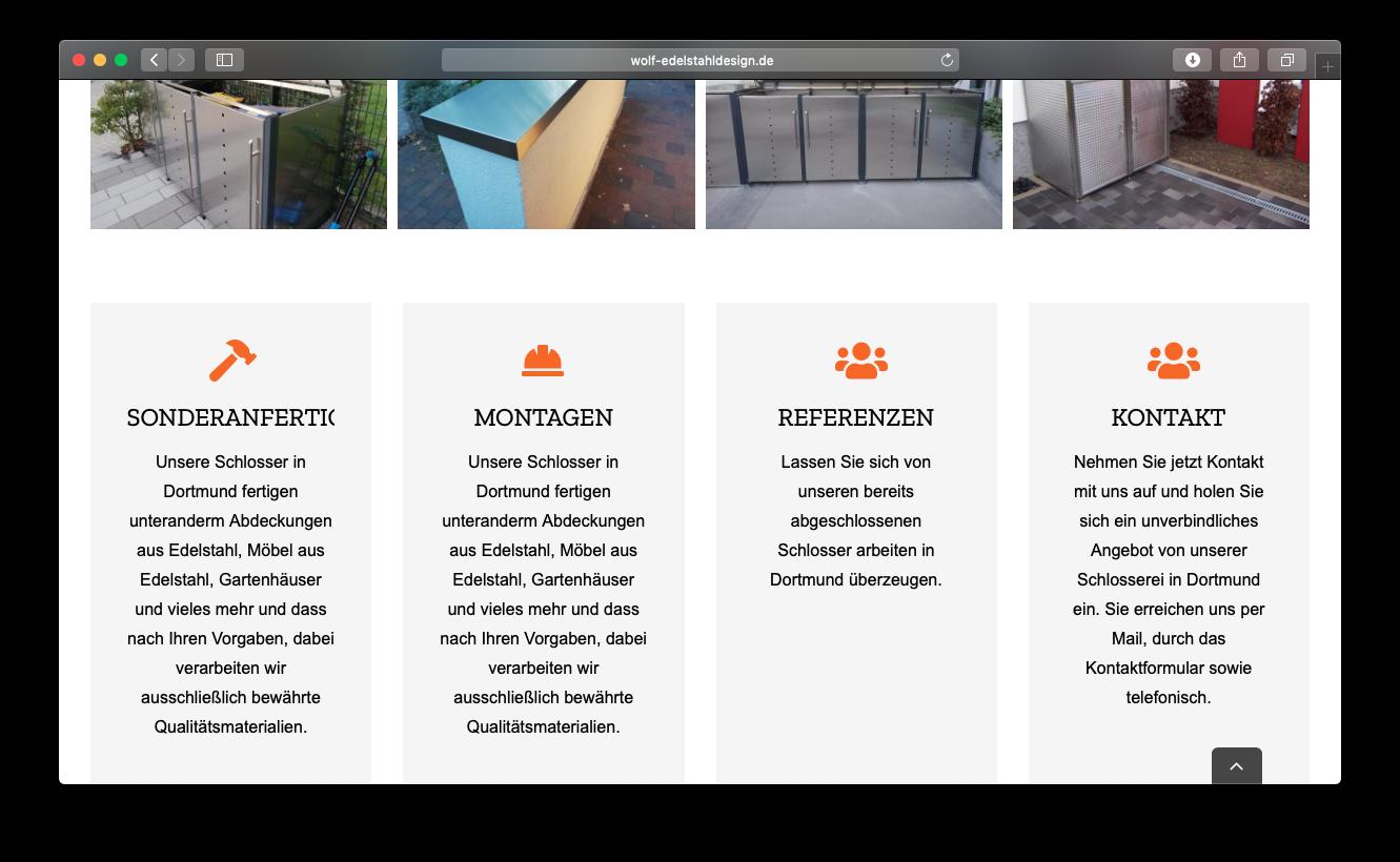 Schlosserei webdesign